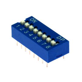 DIP switch Kaifeng KF1001-08PG-BLUE