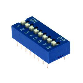 DIP switch Kaifeng KF1001-08PG-BLUE