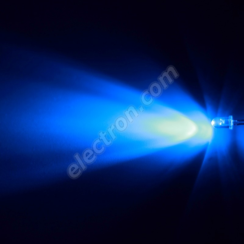 LED 5mm Blue Color 8000mcd/17° Water Clear Lens Hebei 515XB7C