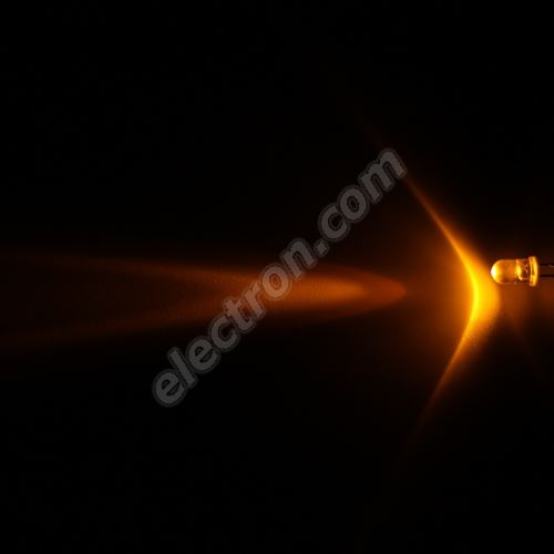 LED 5mm Yellow (Amber) Color 12000mcd/13° Water Clear Lens Hebei 510MY8C