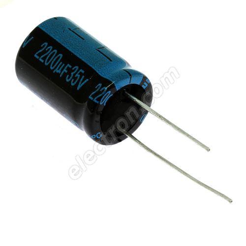 Electrolytic Radial E 2200uF/35V 16x25 RM7.5 105°C Jamicon TKR222M1VK25M
