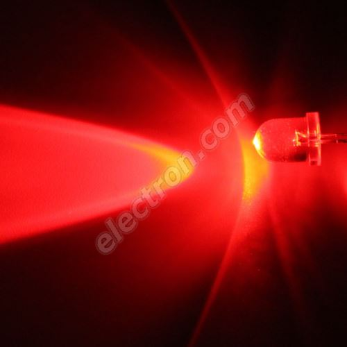 LED 8mm Red Color 6000mcd/20° Water Clear Lens Hebei 825MR2C