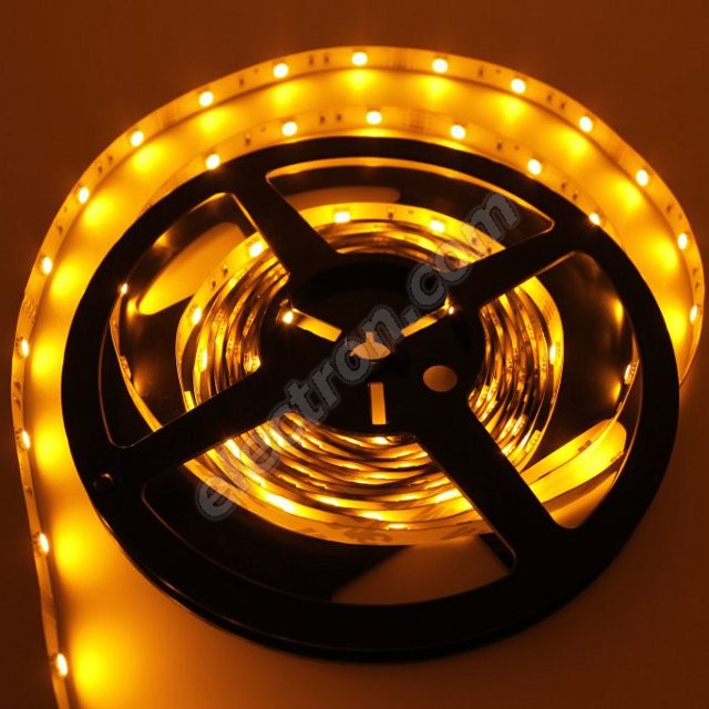 Non-Waterproof LED Strip 5050 Yellow - STRF 5050-30-Y - 1 meter length