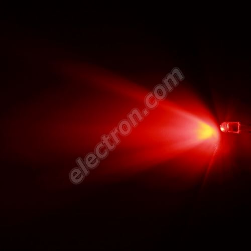 LED oval 5.6x4.6mm Red Color 2100mcd/(20/55°) Water Clear Lens Hebei 725MR2C