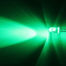 LED 5mm Green Color 16000mcd/40° Water Clear Lens Hebei 540PG2C