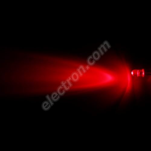 LED 5mm Red Color 2000mcd/30° Water Clear Lens Hebei 530FR4C