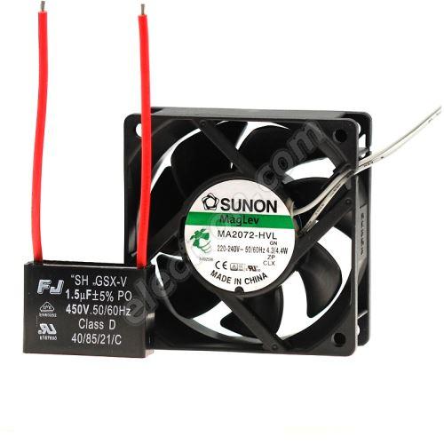 AC Fan 70x70x25mm 230V AC/207mA 30dB SUNON MA2072-HVL.GN