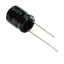 Electrolytic Radial E 100uF/63V 10x13 RM5 85°C Jamicon SKR101M1JG13M