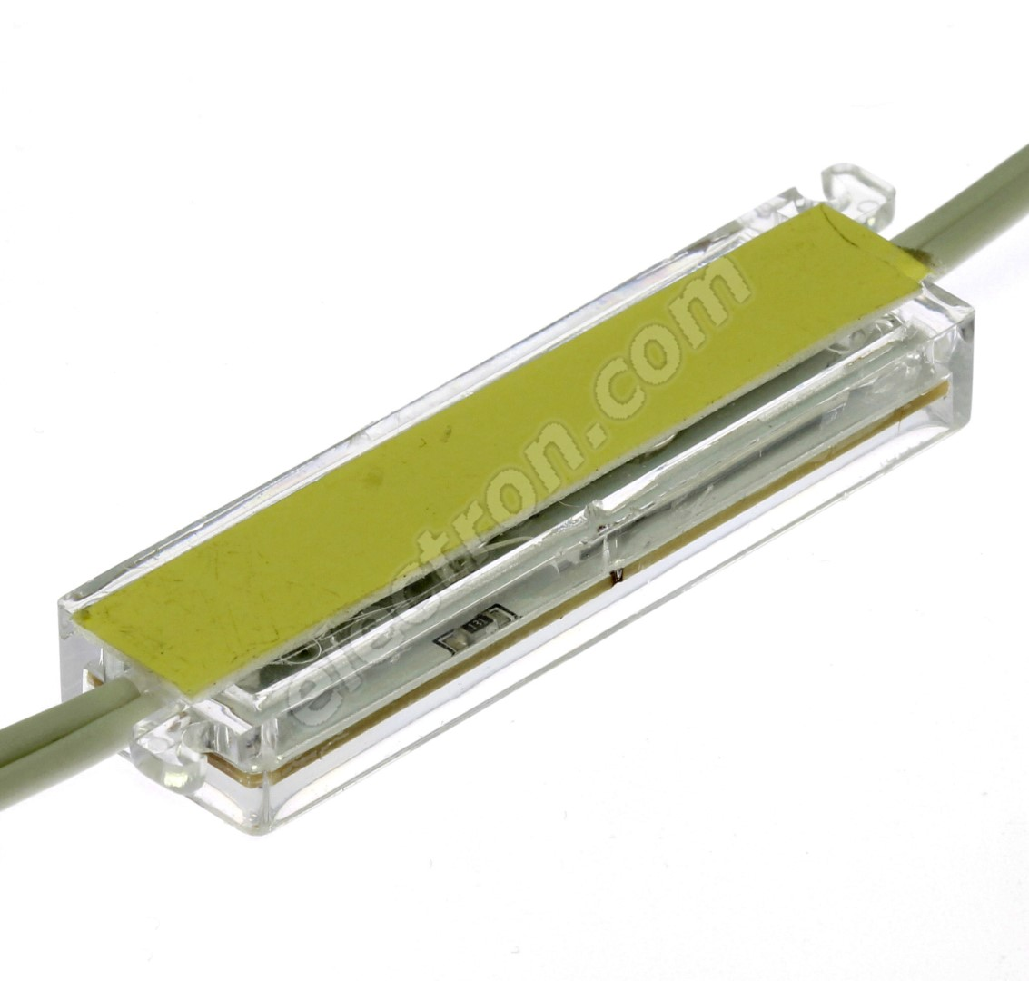 LED moduel 3xLED 0.72W Warm White, 45lm/120° - 70x20mm Hebei LM-5050W3-3P-12V