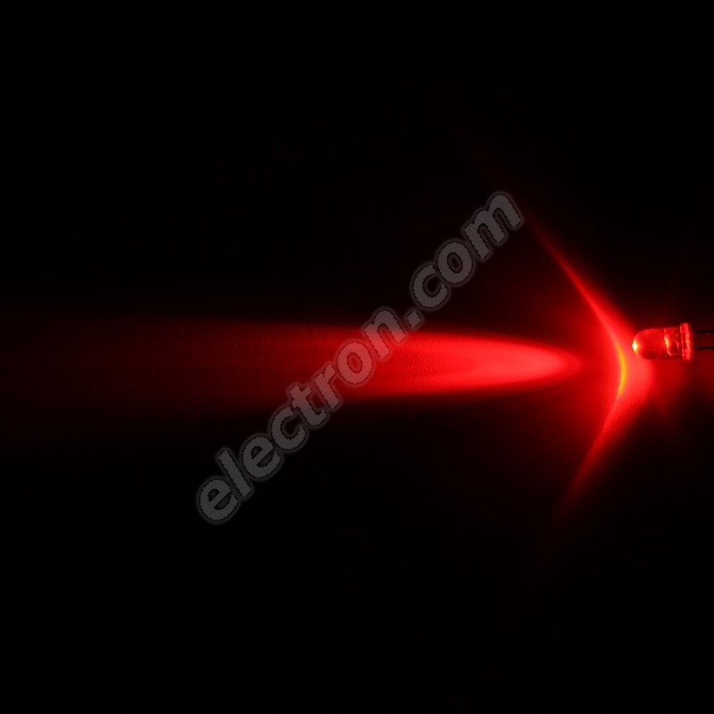 LED 5mm Red Color 7900mcd/13° Water Clear Lens Hebei 510MR2C