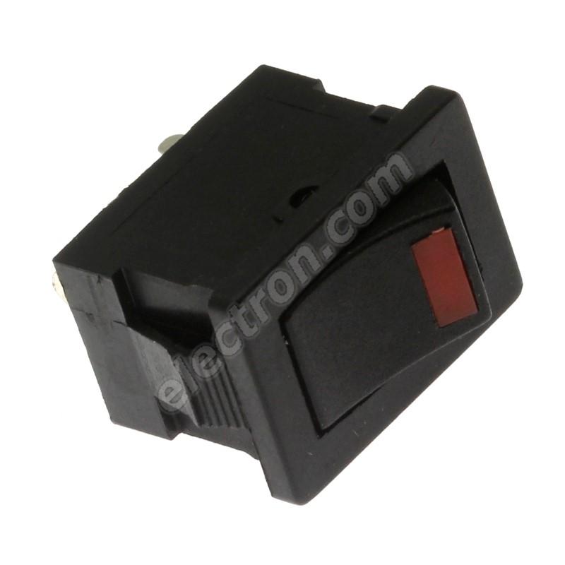 Rocker Switch Jietong MIRS-101-3+LED RED- B/B