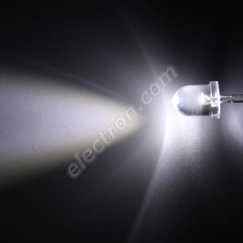 LED 8mm Cool White Color 10000mcd/23° Water Clear Lens Hebei 825PWC