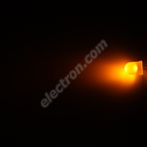 LED 10mm Yellow (Amber) Color 600mcd/50° Diffused Lens Hebei 105XY8D
