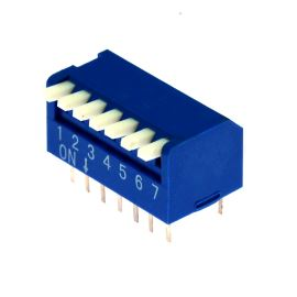 DIP switch Kaifeng KF1002-07PG-BLUE