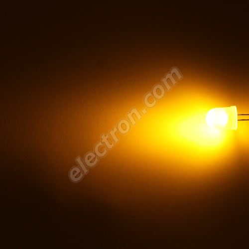 LED 10mm Yellow (Amber) Color 800mcd/50° Diffused Lens Hebei 105MY8D