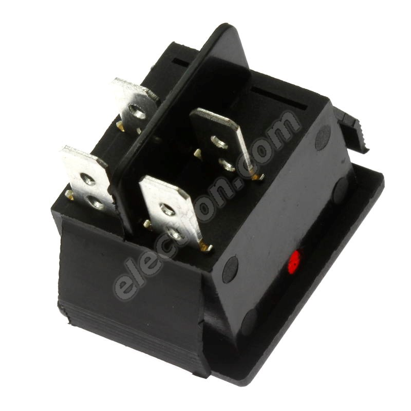 Rocker Switch Jietong IRS-201-1C3-R/B
