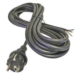 Rubber Schuko Power Cable 3x1.0mm 3m length Black Color