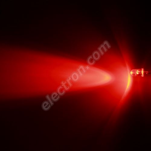 LED 5mm Red Color 2500mcd/30° Water Clear Lens Hebei 530XR2C
