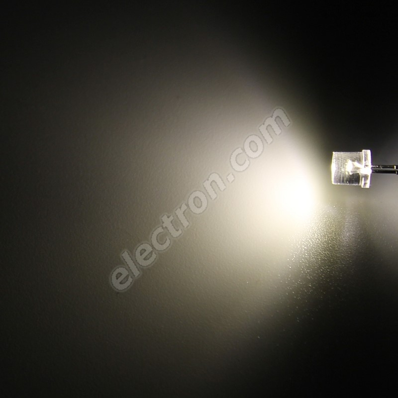 LED 5mm Warm White Color 1000mcd/100° Water Clear Lens Hebei 599PW04C