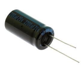 Electrolytic Radial E 2200uF/25V 12.5x25 RM5 105°C Jamicon TKR222M1EI25M