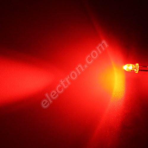 LED 3mm Red Color 3000mcd/30° Water Clear Lens Hebei 330MR2C