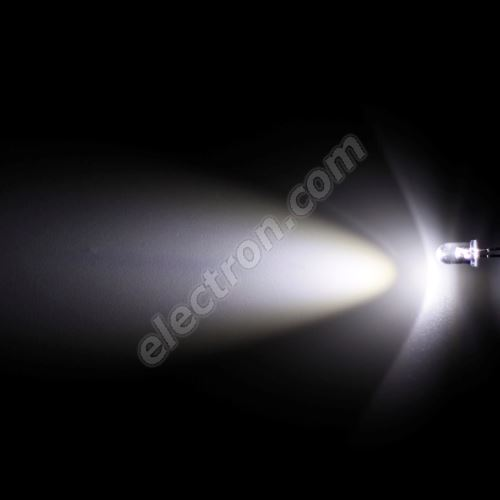 LED 5mm Cool White Color 4000mcd/30° Water Clear Lens Hebei 530VW6C
