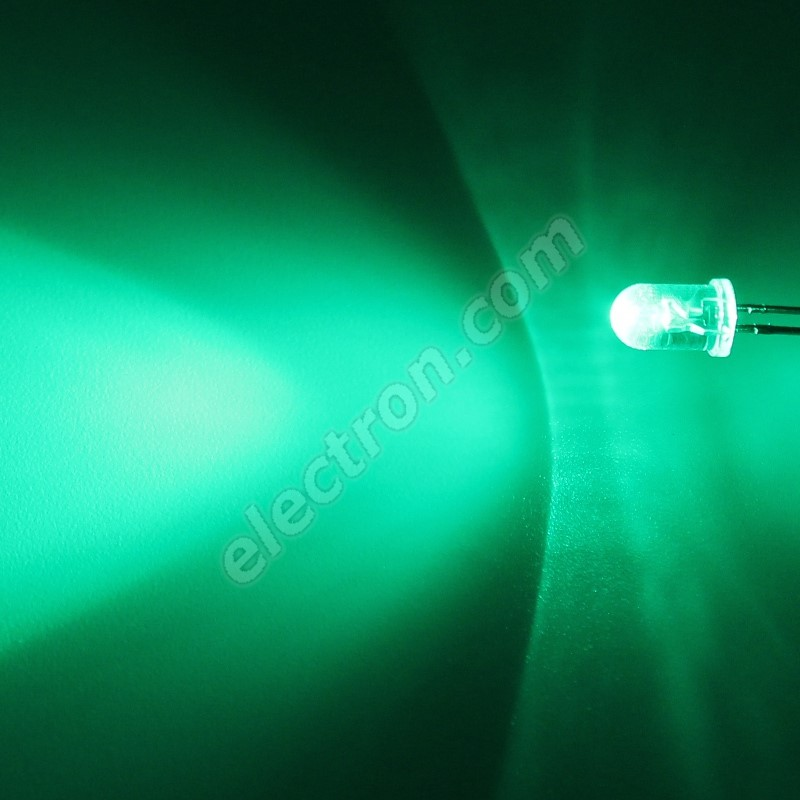LED 5mm Green Color 15000mcd/30° Water Clear Lens Hebei 530PG0C
