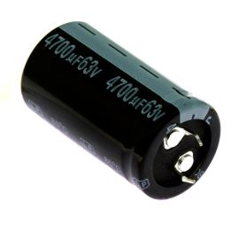 Electrolytic Capacitor Snap-in E 4700uF/63V 25x45 RM10 85°C Jamicon LPW472M1JO45M