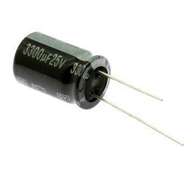 Electrolytic Radial E 3300uF/25V 16x25 RM7.5 85°C Jamicon SKR332M1EK25M