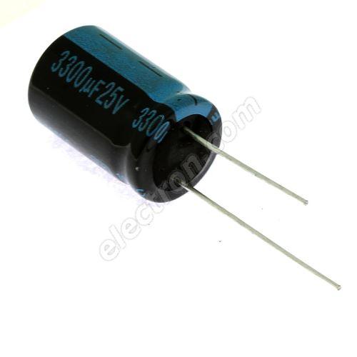 Electrolytic Radial E 3300uF/25V 16x25 RM7.5 105°C Jamicon TKR332M1EK25M