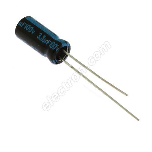 Electrolytic Radial E 3.3uF/100V 5x11 RM2 105°C Jamicon TKR3R3M2AD116M