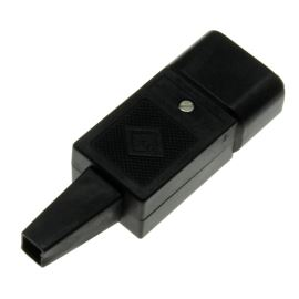 IEC Male Power Connector Straight MPE Garry GST4