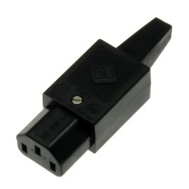 IEC Female Power Connector Straight MPE Garry GST3G
