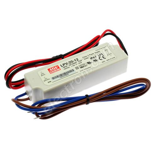 12V DC Power Supply Mean Well LPV-20-12