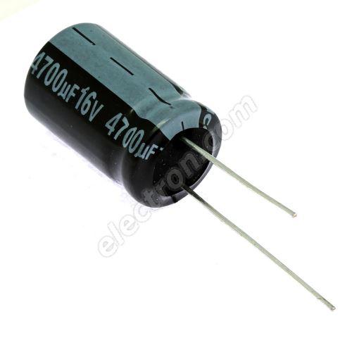 Electrolytic Radial E 4700uF/16V 16x25 RM7.5 85°C Jamicon SKR472M1CK25M