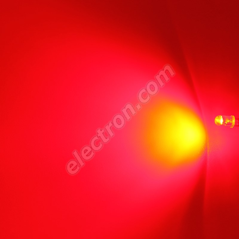LED 5mm 0.5W Red Color 6500mcd/90° Water Clear Lens Hebei 05W580ERC