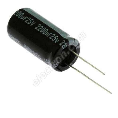 Electrolytic Radial E 2200uF/25V 12.5x25 RM5 85°C Jamicon SKR222M1EJ26M