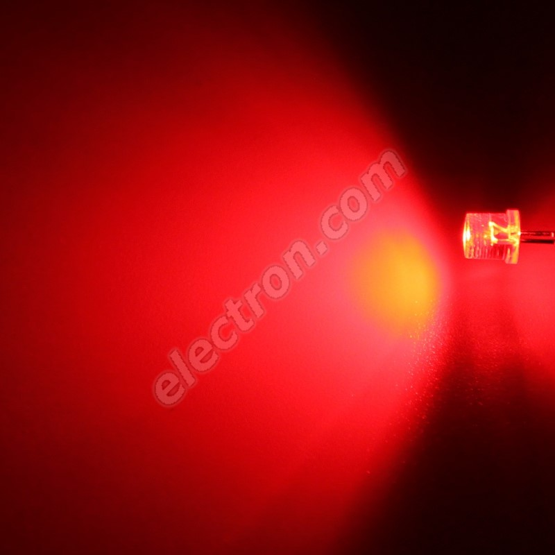 LED 5mm Red Color 1100mcd/100° Water Clear Lens Hebei 599PR2C