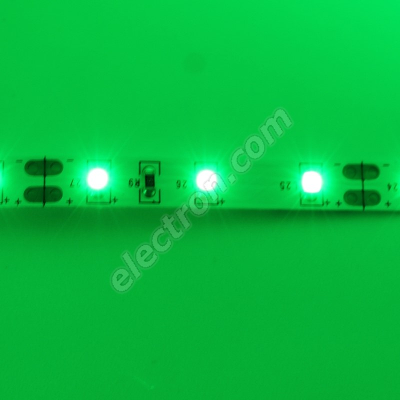 Non-Waterproof LED Strip 3528 Green - STRF 3528-60-G - 1 meter length