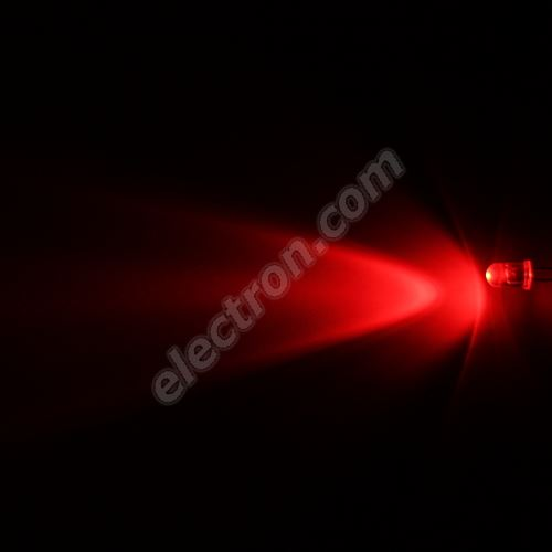 LED 5mm Red Color 3000mcd/40° Water Clear Lens Hebei 540HR3C