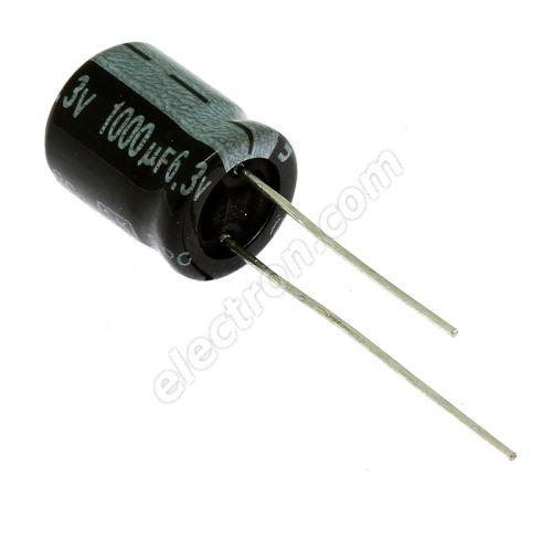 Electrolytic Radial E 1000uF/6.3V 10x13 RM5 85°C Jamicon SKR102M0JG13M
