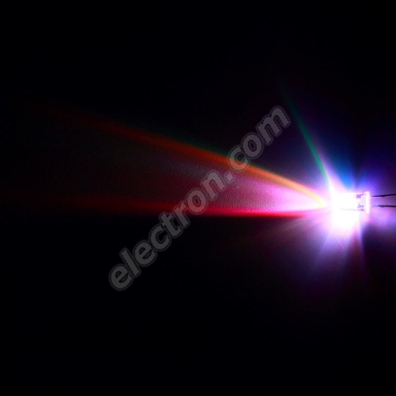 LED 5mm RGB Slow Color changing 1500mcd/15° Water Clear Lens Hebei 5XRGB-F2-S