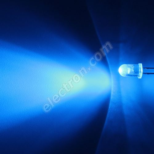 LED 5mm Blue Color 3000mcd/30° Water Clear Lens Hebei 530PB6C