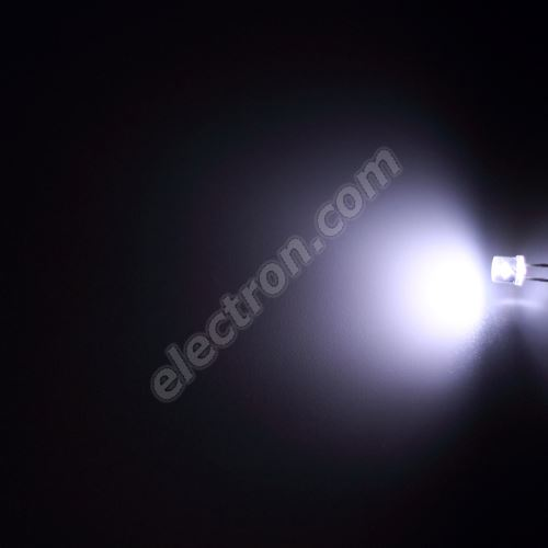 LED 5mm Cool White Color 1000mcd/100° Water Clear Lens Hebei 599XW7C