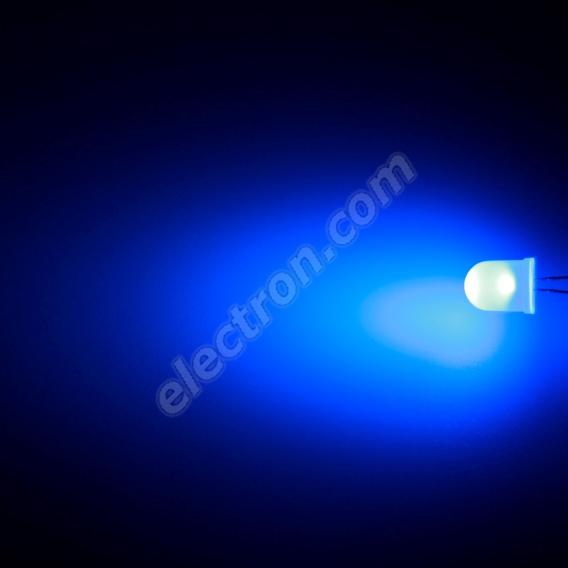 LED 10mm Blue Color 800mcd/50° Diffused Lens Hebei 105XB7D