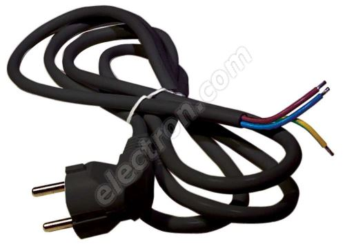 PVC Schuko Power Cable 3x1.0mm 5m length Black Color