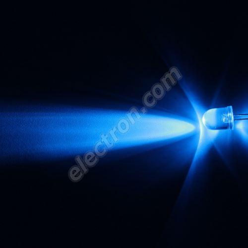 LED 10mm Blue Color 8200mcd/23° Water Clear Lens Hebei 1025LB7C