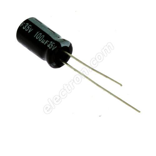 Electrolytic Radial E 100uF/35V 6.3x11 RM2.5 85°C Jamicon SKR101M1VE11M