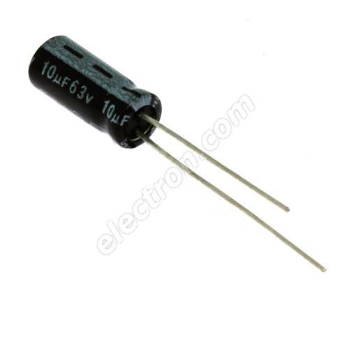 Electrolytic Radial E 10uF/63V 5x11 RM2 85°C Jamicon SKR100M1JD11M