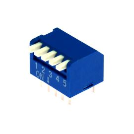 DIP switch Kaifeng KF1002-05PG-BLUE